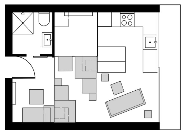 Floor Plan Transformation Gray