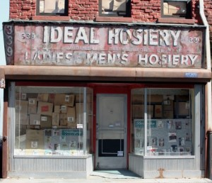 """Randy Hage, 1/12th scale sculpture of Ideal Hosiery, located at 339 Grand St. New York, NY; 17"""" x 15"""" x 8"""""""