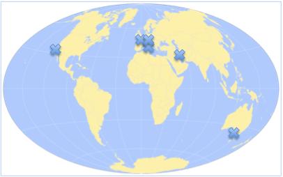 Participants map