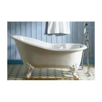 baignoire sur pied herbeau marie louise en fonte blanche 155 x 76 cm