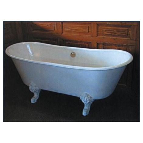 baignoire sur pied herbeau princesse en fonte blanche 170 x 69 cm