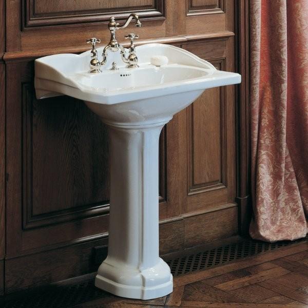 colonne de lavabo herbeau empire blanc