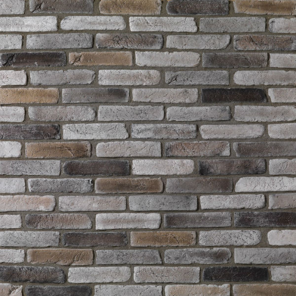 brique de parement ton gris nuance paquet de 0 5 m2