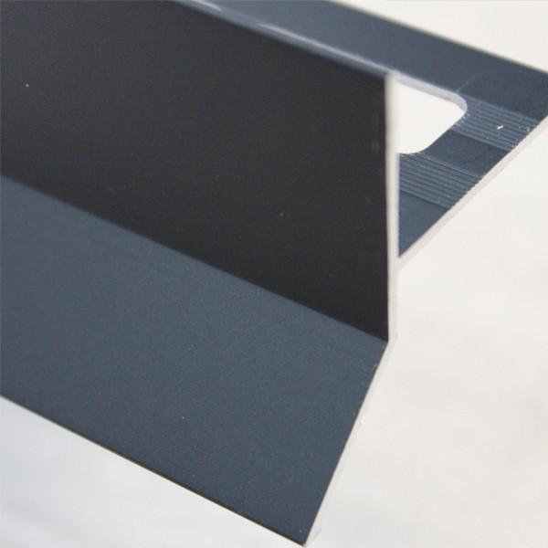 profile goutte d eau aluminium noir mat pour carrelage 21 mm x 2 5 m