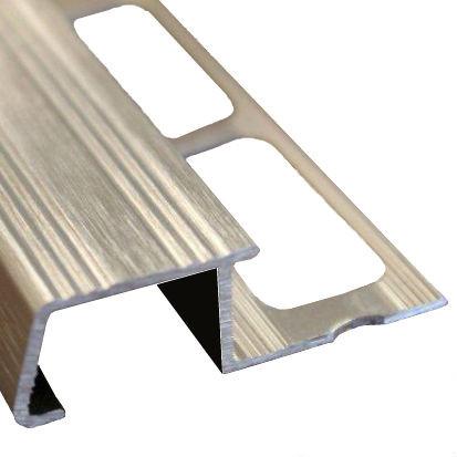 Nez De Marche Finition Carrelage Aluminium Brosse 13 Mm Materiauxnet Com