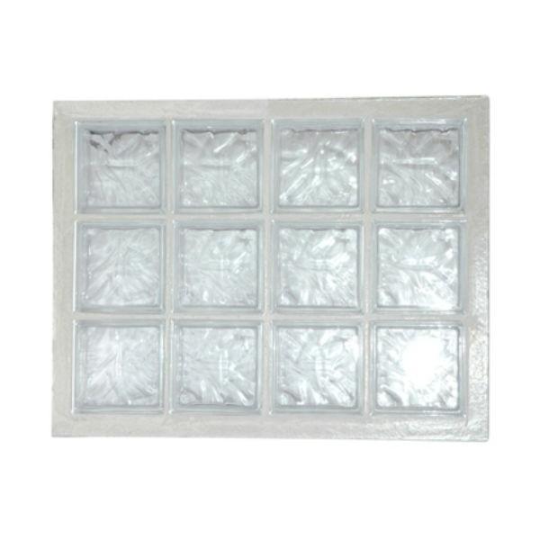 panneau de 12 briques de verre la rochere n 34 incolore 67 x 87 cm
