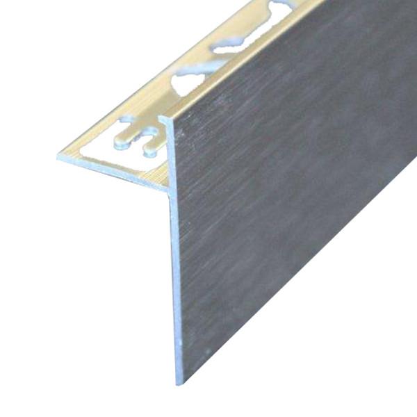 profile de finition de plan de travail en aluminium brosse 10 mm x 2 5 m