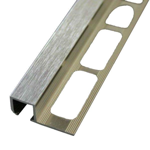 profile de finition carre carrelage aluminium brosse brillant 12 mm x 2 5 m
