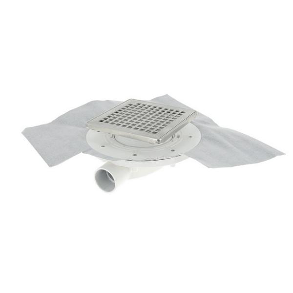 siphon extra plat 40 mm inox 10 x 10 cm docia nicoll sfh10inc