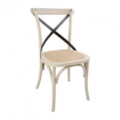 chaise bistro avec dossier croise sable lot de 2