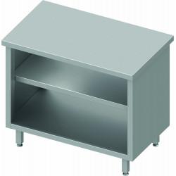 armoire basse inox sans rebord etagere intermediaire profondeur 600 stalgast