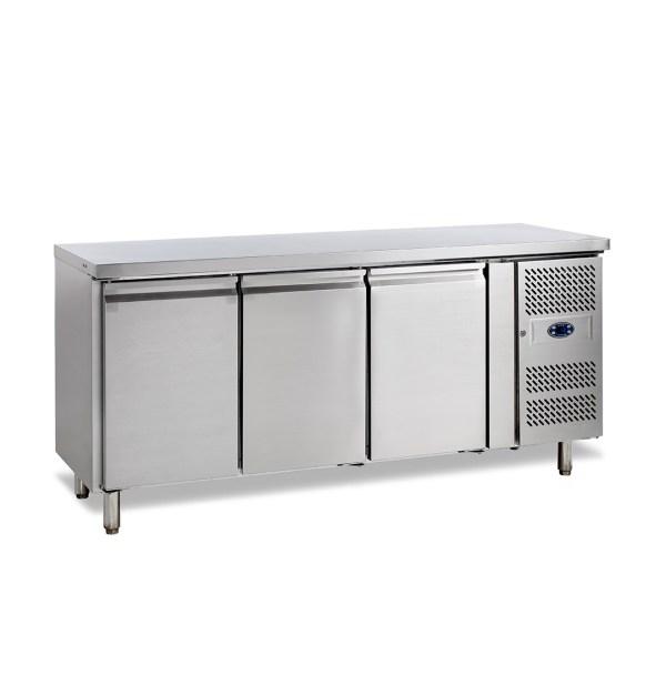 SK6310 TABLE RÉFRIGÉRÉE POSITIVE -2 +10°C, 3 PORTES, PROFONDEUR 600, 179 CM, 360 L
