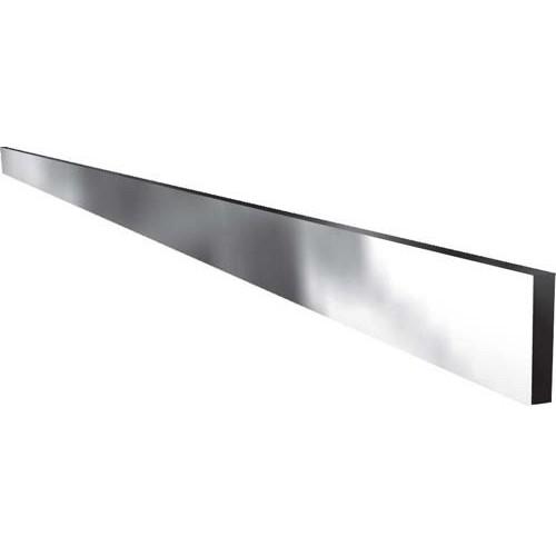 rail a viande barre lisse inox poli miroir 4 faces section 30 x 6 mm