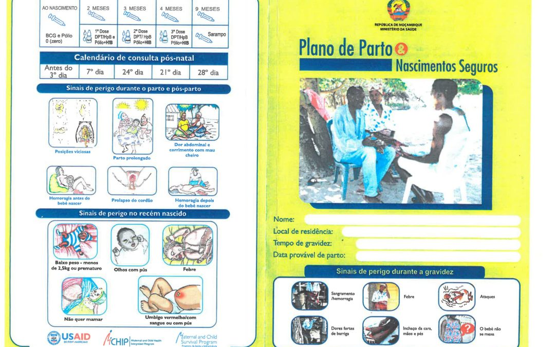 Birthplan pamphlet for the Province of Inhambane