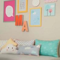almofadas na decoração do quarto das crianças 16