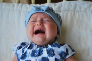 Bebê chora para dormir