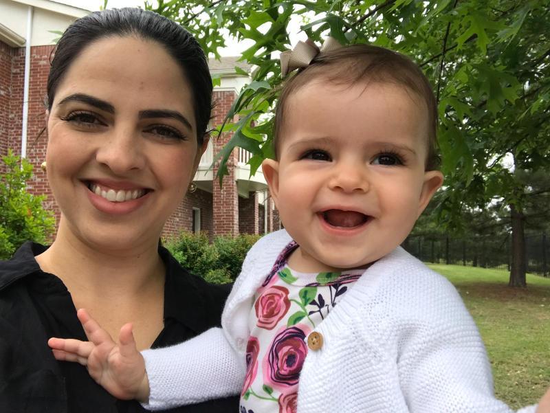 Vanessa, mãe da Stella, 7 meses