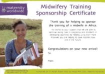 Midwifery Training Sponsorship Certificate 2013 - Congratulations - Online Example