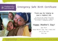 Emergency Safe Birth - Mother's Day