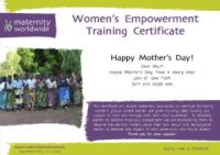 Women's Empowerment - Mother's Day