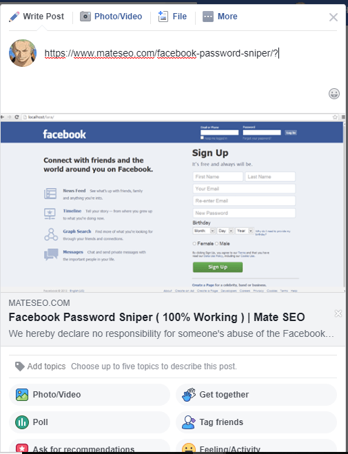 facebook preview window showing updated featured image