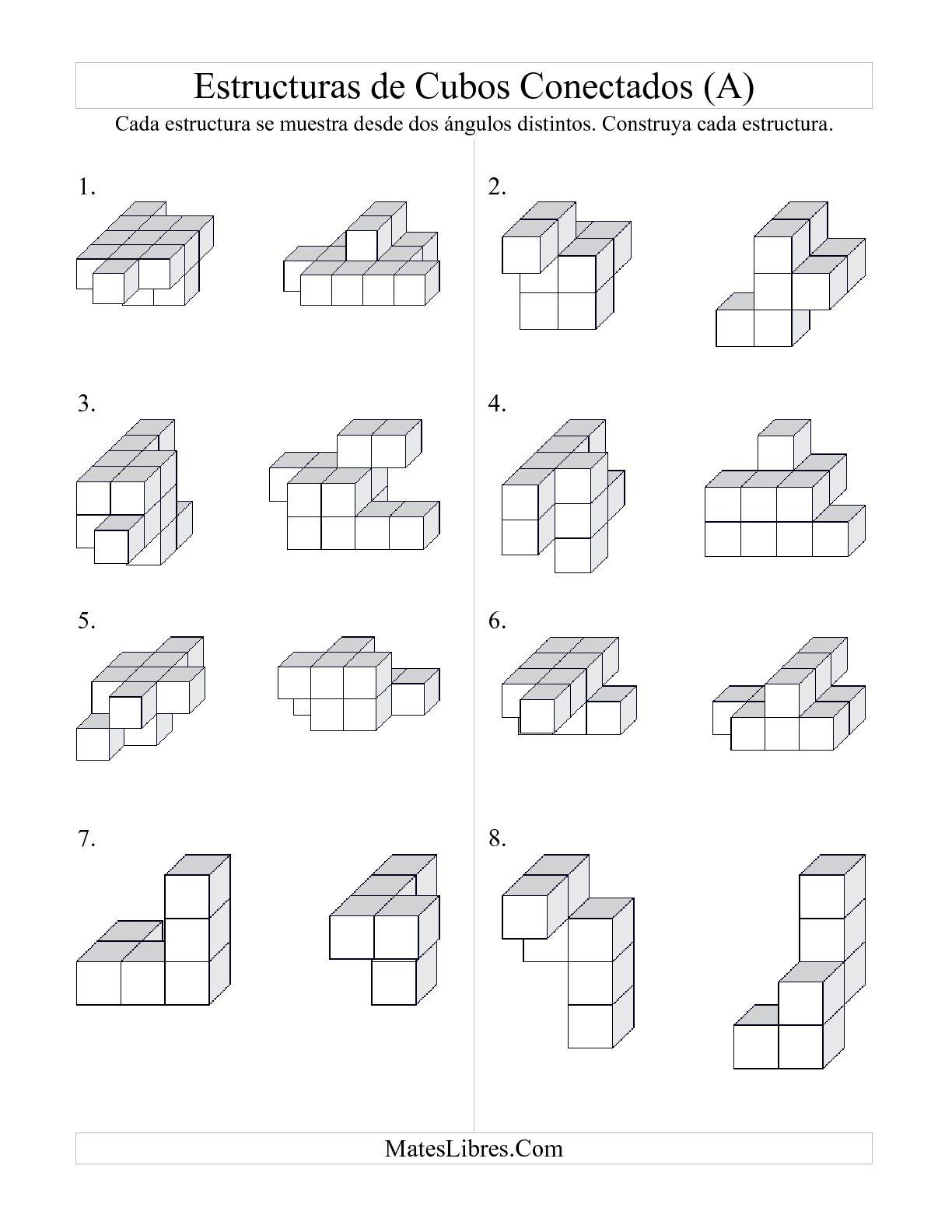 Construir Estructuras De Cubos Conectados A Hoja De