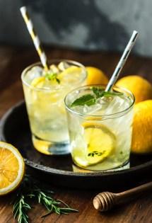 cold lemon water