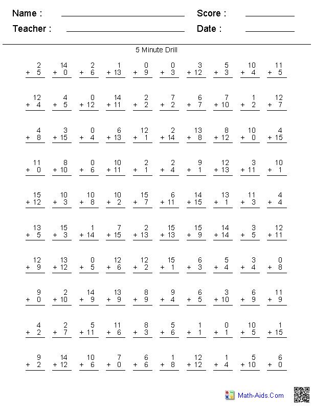Second Grade Two Digit Math Sheets Print