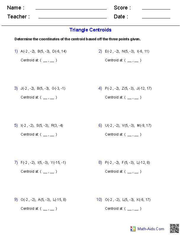 Area Isosceles Triangle Worksheet