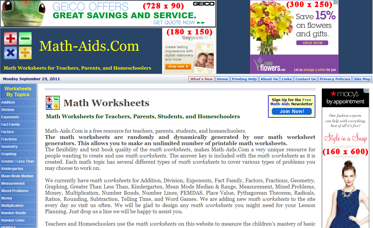 Worksheet Math Aids Division Mytourvn Study Site