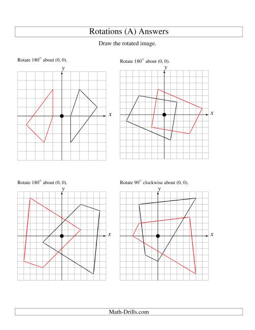 Rotation Geometry Worksheet Free Worksheets Library   Download and ...