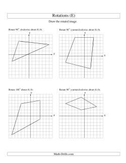 Rotation Of 4 Vertices Around The Origin E Geometry