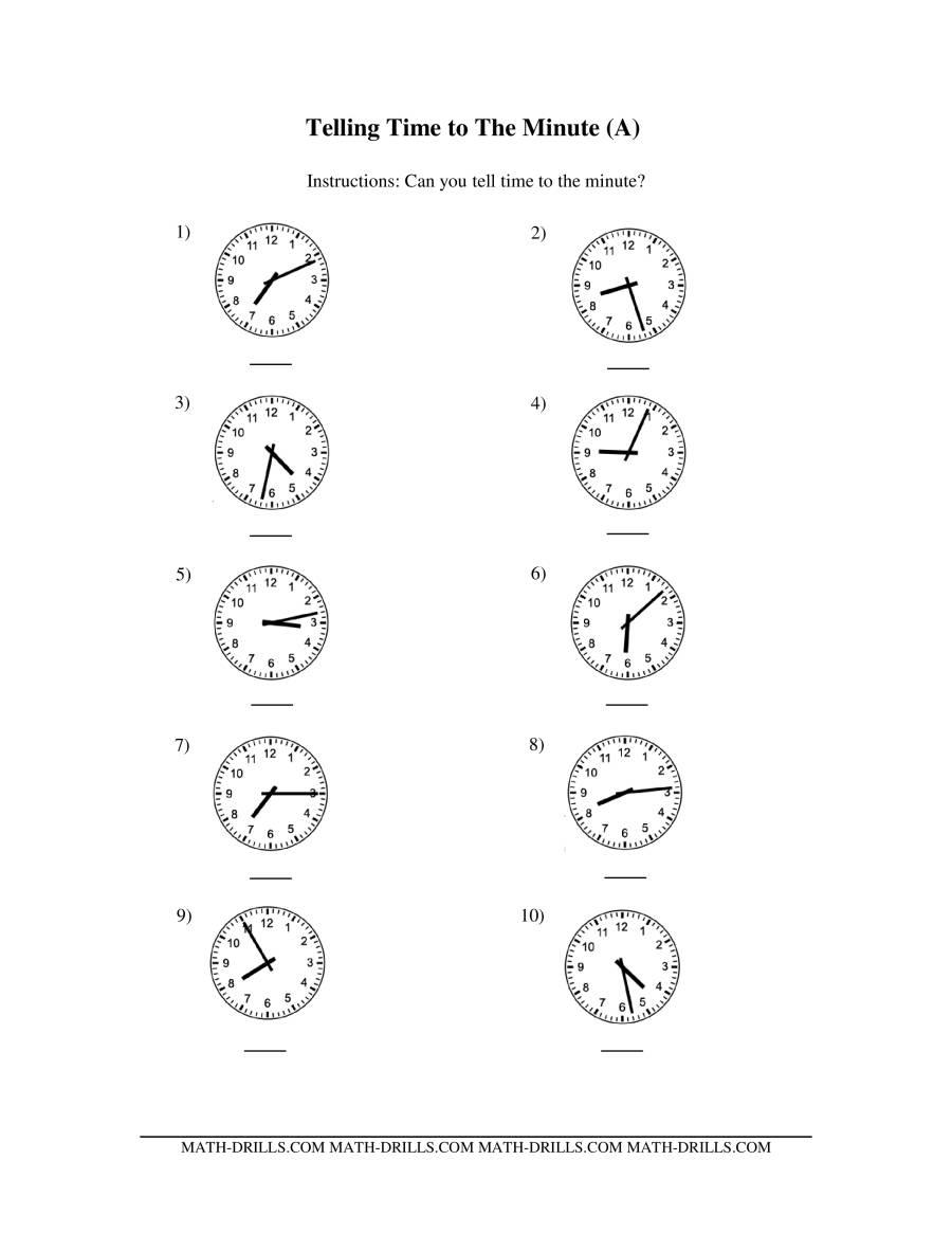 Tell G Time N Log Clocks E M Ute Terv Ls