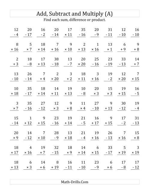 Dd G Subtr Ct G Nd Multiply G With F Cts From 1 To 20