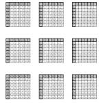 Multiplication Tables To 49 Four Per Page A