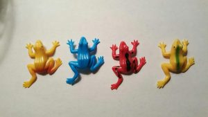 four frogs