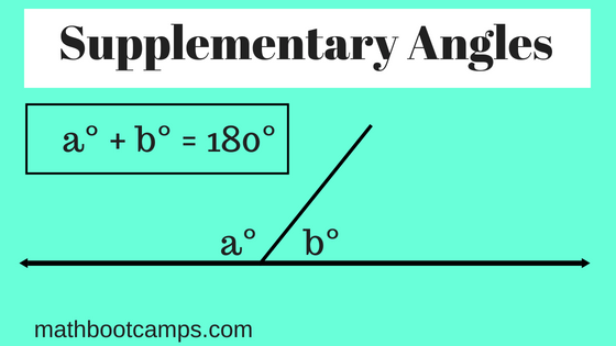 supplementary angles are angles whose measures add to 180 degrees