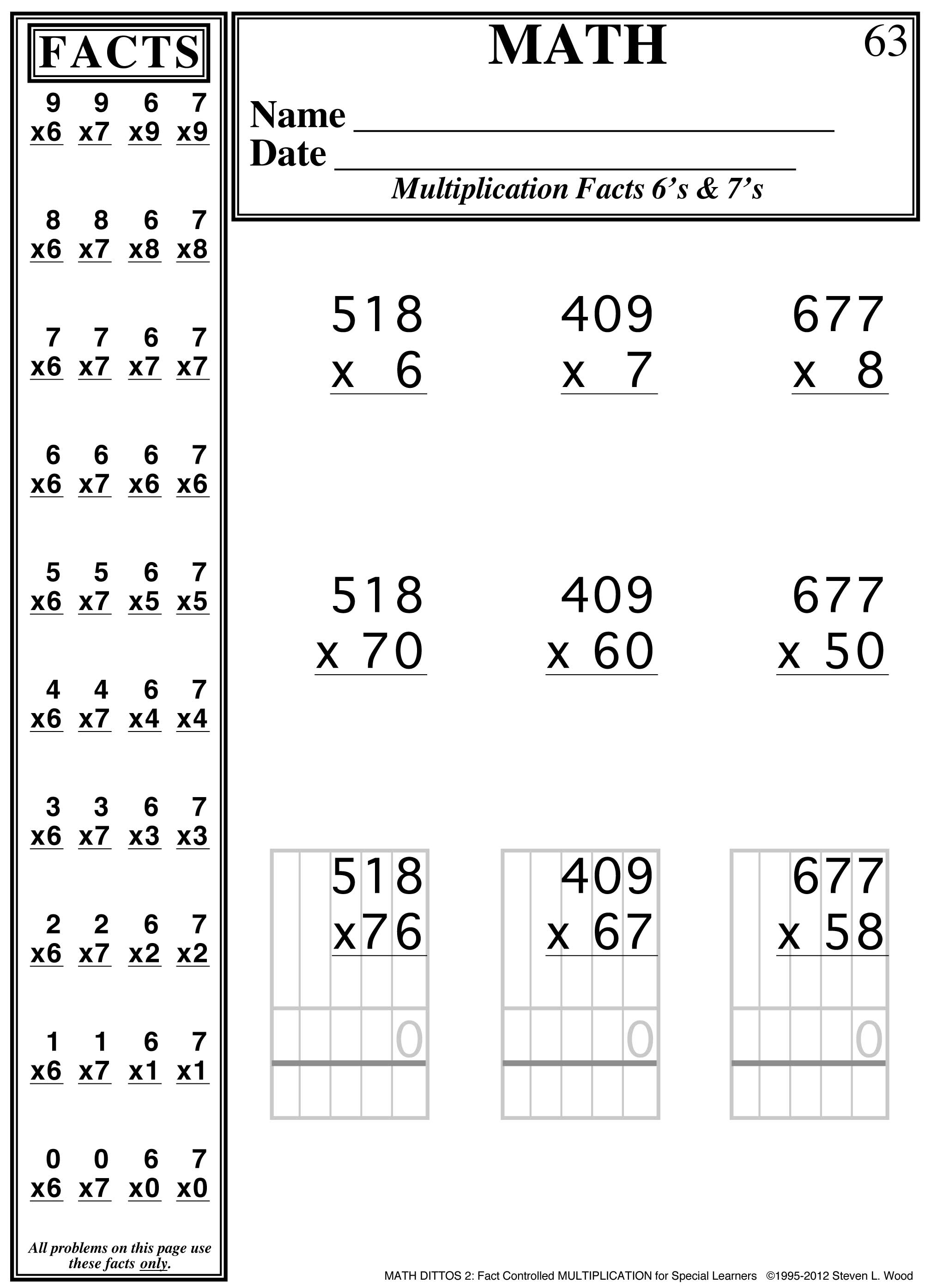 Fact Controlled Multiplication