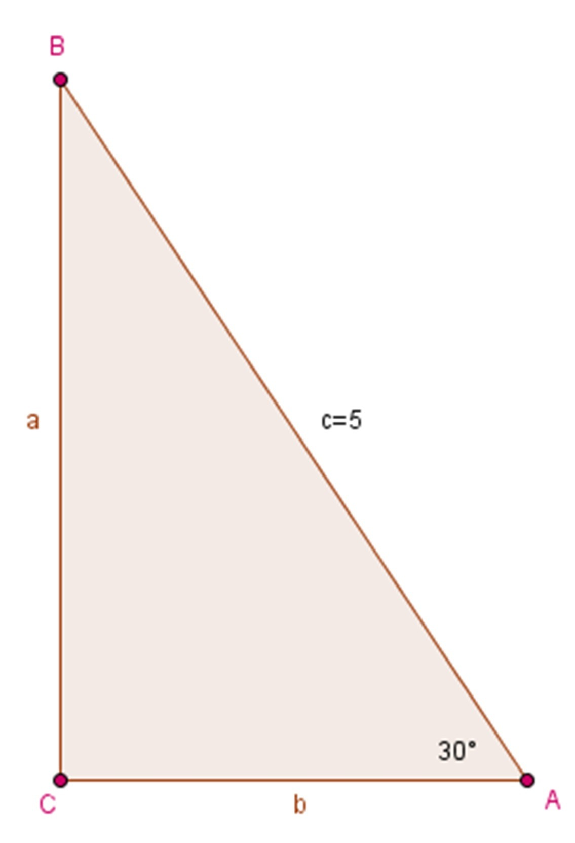 Triangle With Hypotenuse 5