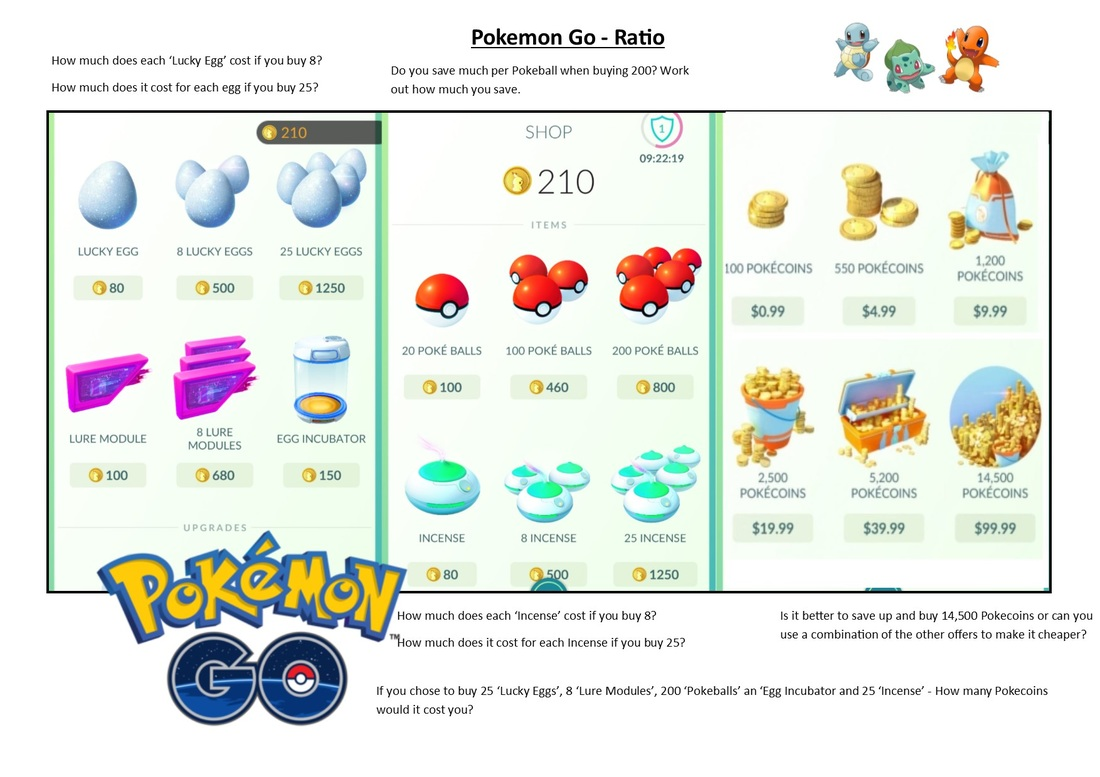 Pokemon Math Worksheet Grade 12