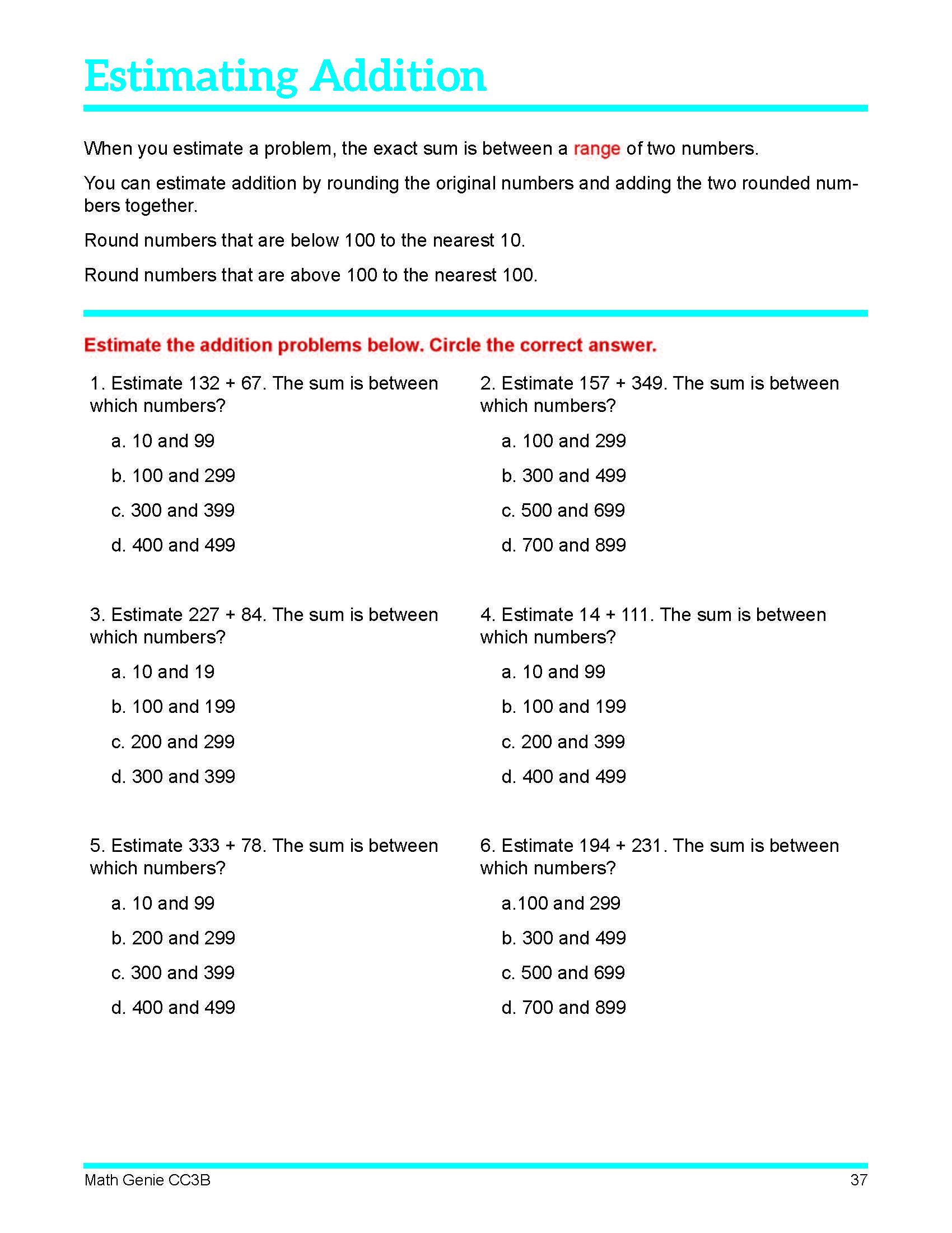 Third Grade Course Amp Sample Lessons Math Genie Common Core