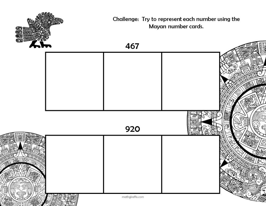 Mayan Numbers Worksheet 1