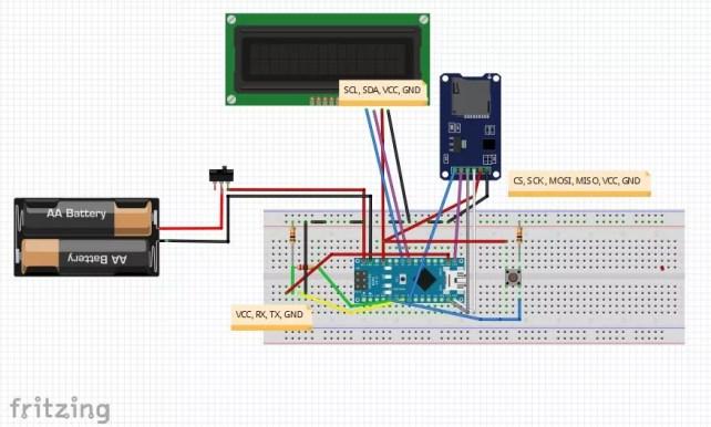 GPS-Tracker mit Arduino Nano, u-Blox NEO-6m Schaltplan