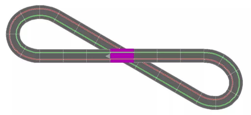 Carrera Streckenlayout 8 K1 2