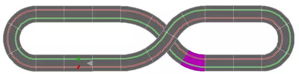Carrera Streckenlayout 8 K1 2 3