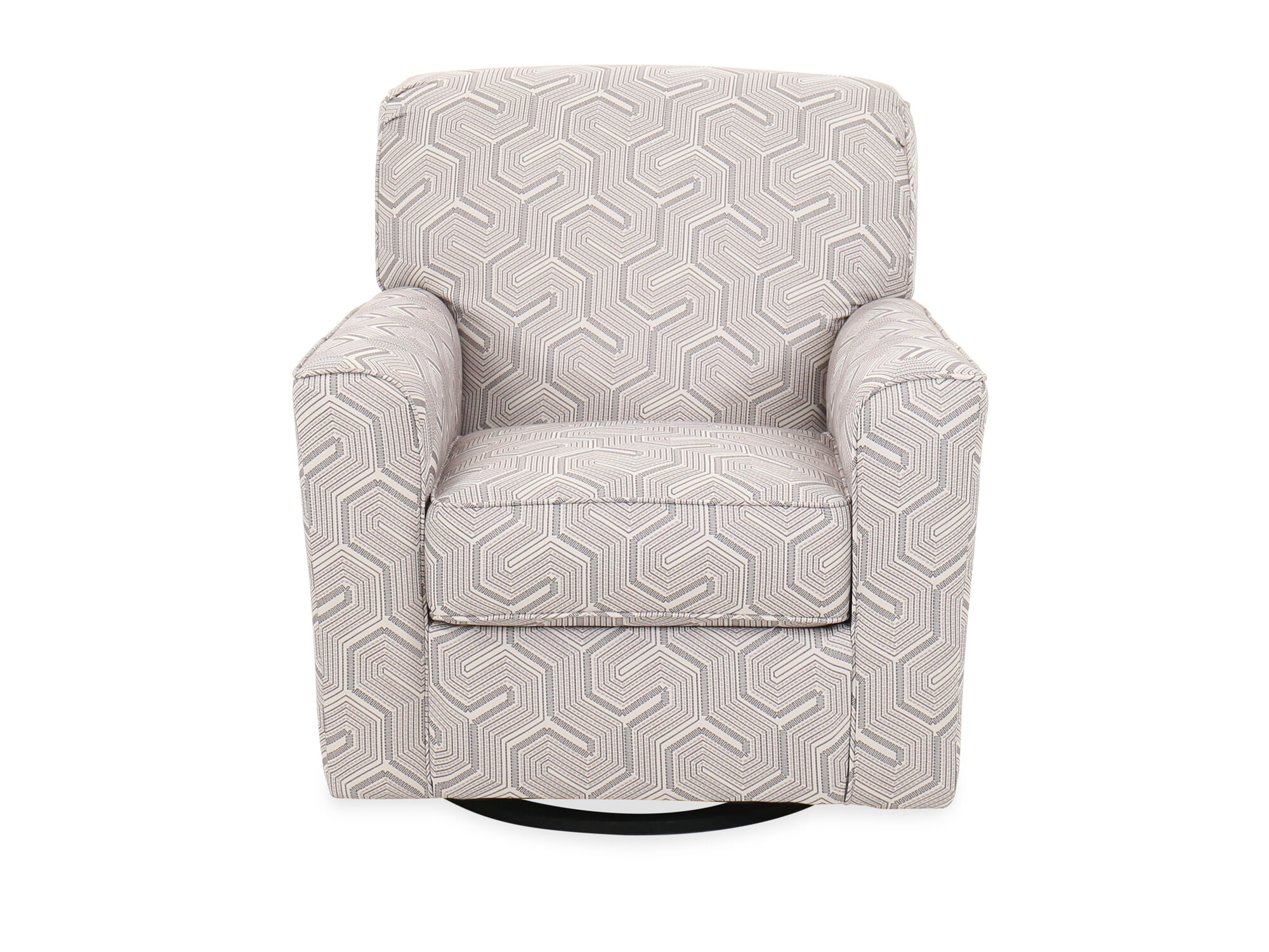 Geometric Patterned Contemporary 36 Swivel Accent Chair