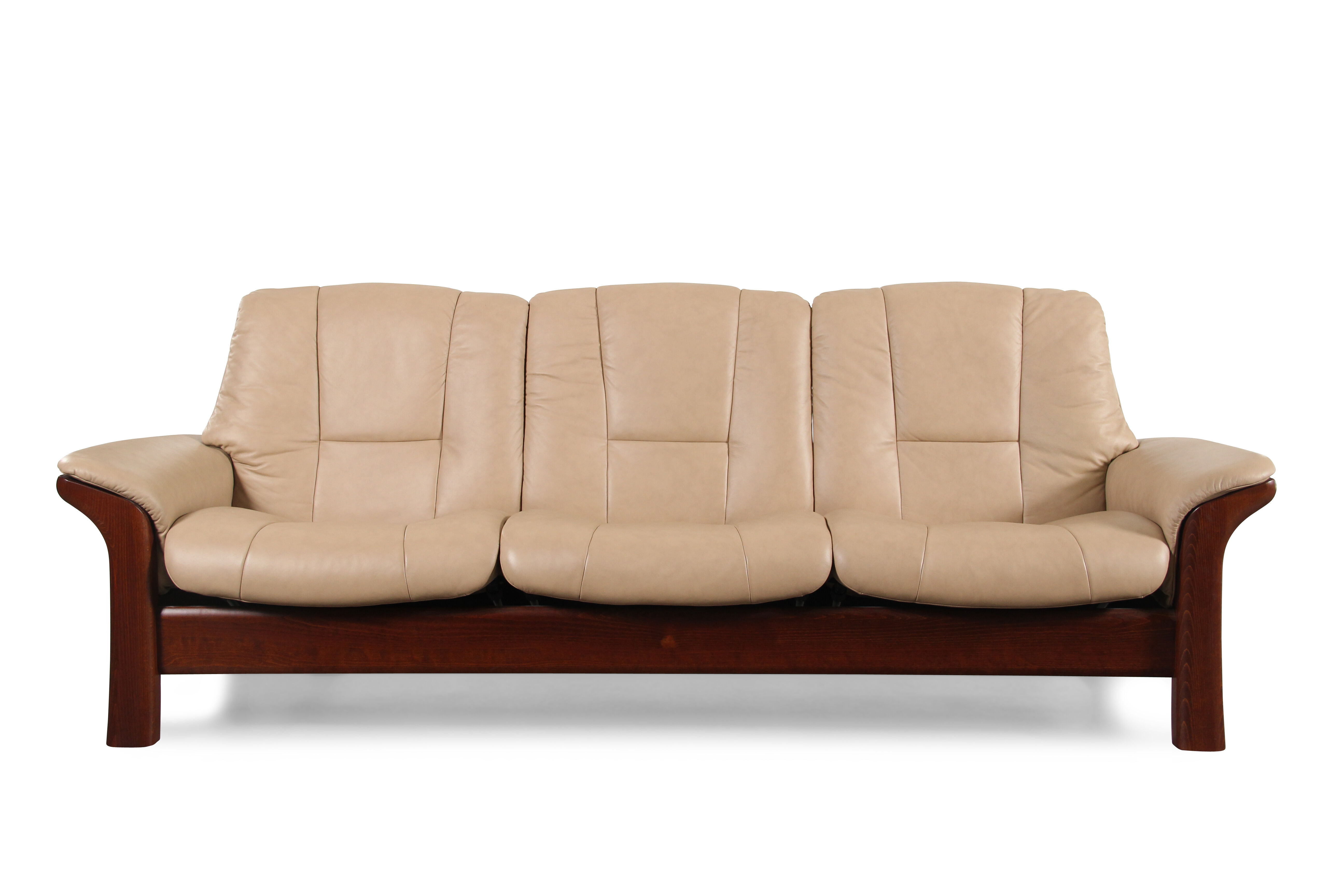 Contemporary Leather 90 5 Reclining Sofa In Brown Mathis