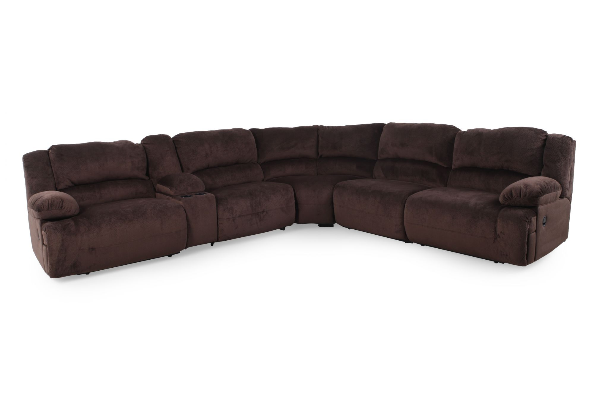 Microfiber 1315 Sectional In Chocolate Brown Mathis