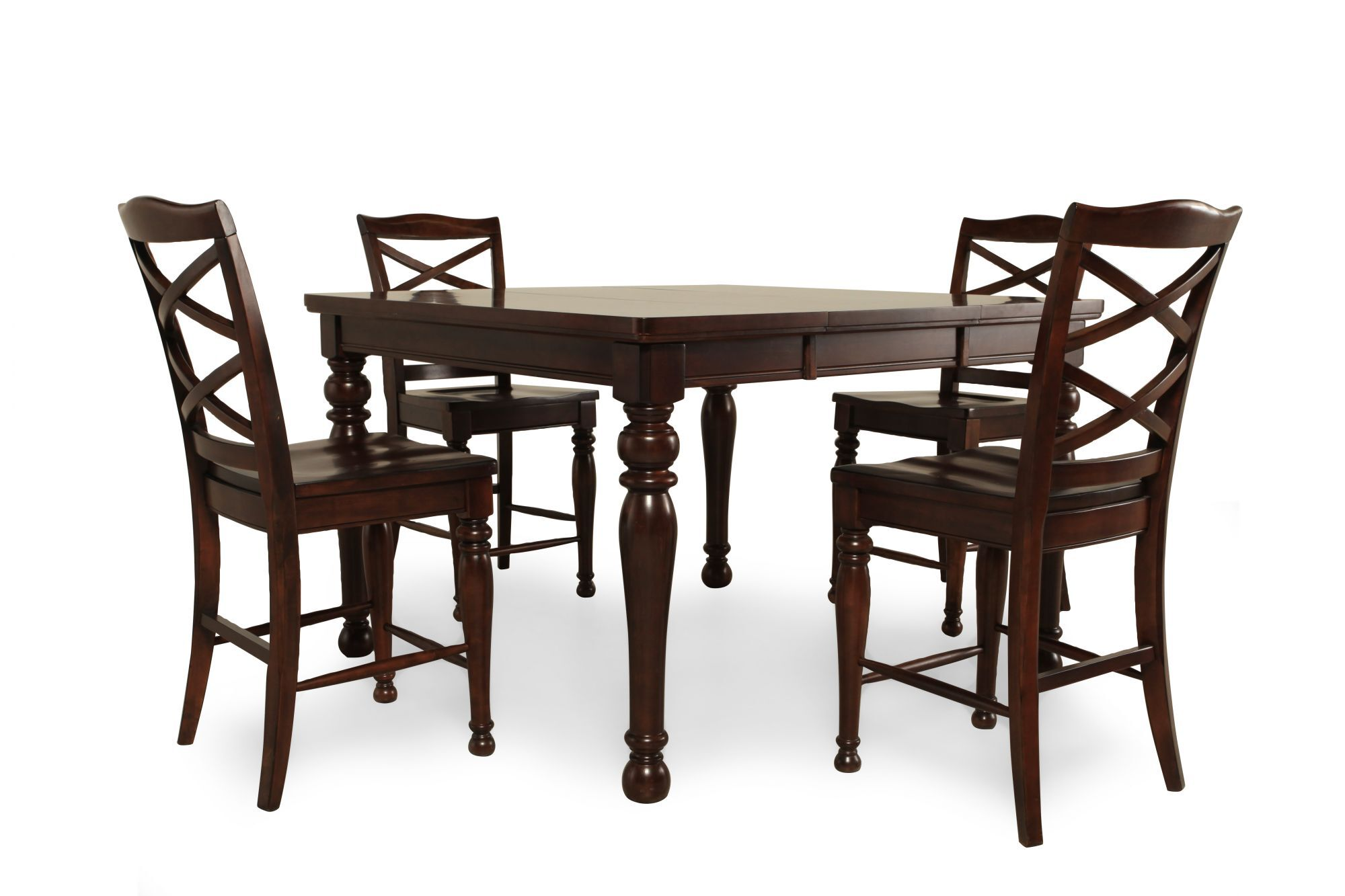 Five Piece Traditional 36 Pub Set In Rich Espresso Mathis Brothers Furniture