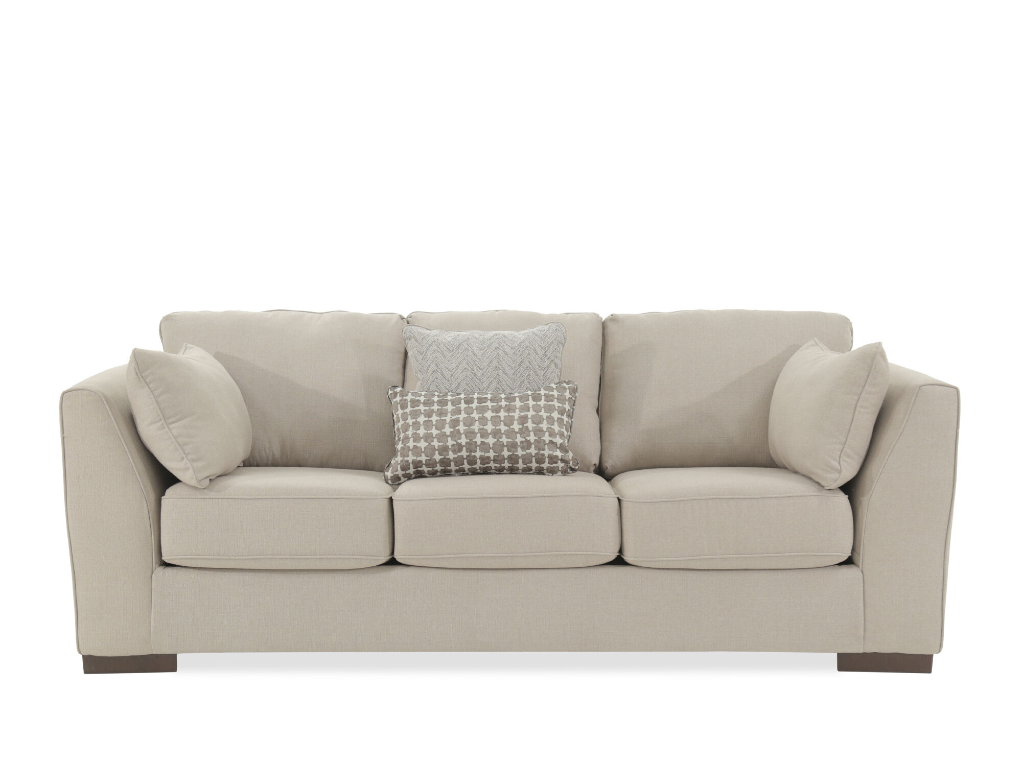 Contemporary 93 Box Sofa In Beige Mathis Brothers Furniture